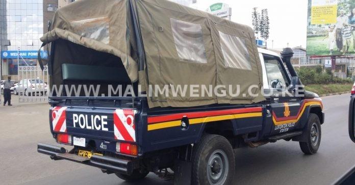 Kenya Police Vehicle x