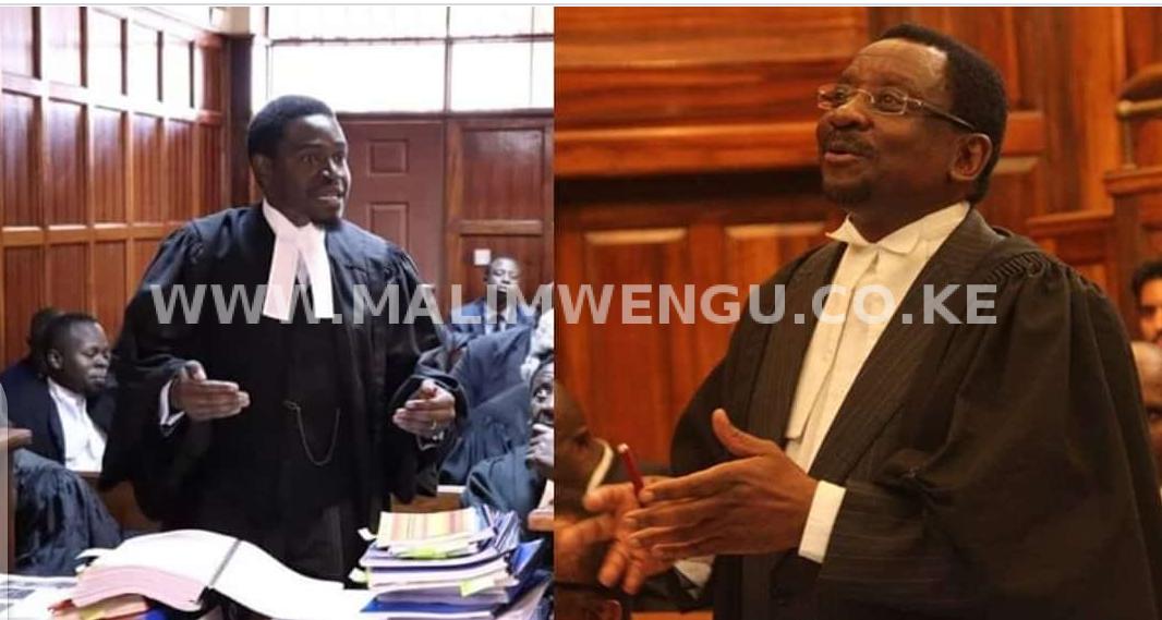 LSK President Nelson Havi and Senior Counsel James Orengo